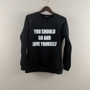 """Sweaters - 'Love yourself"""" Justin Bieber quote sweater"""